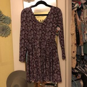 Urban Outfitters Floral Jersey Knit Floral Dress